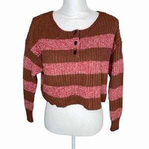 American Eagle xs cropped chunky knit sweater